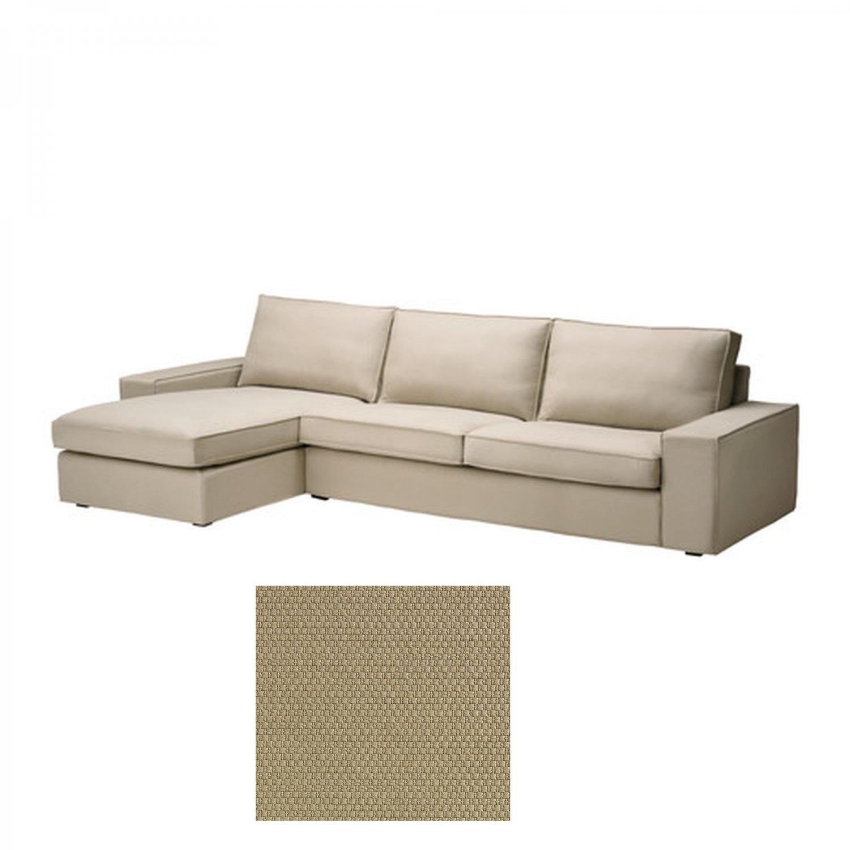 Ikea kivik 3 seat sofa w chaise longue slipcover cover dansbo beige - Ikea chaise stockholm ...
