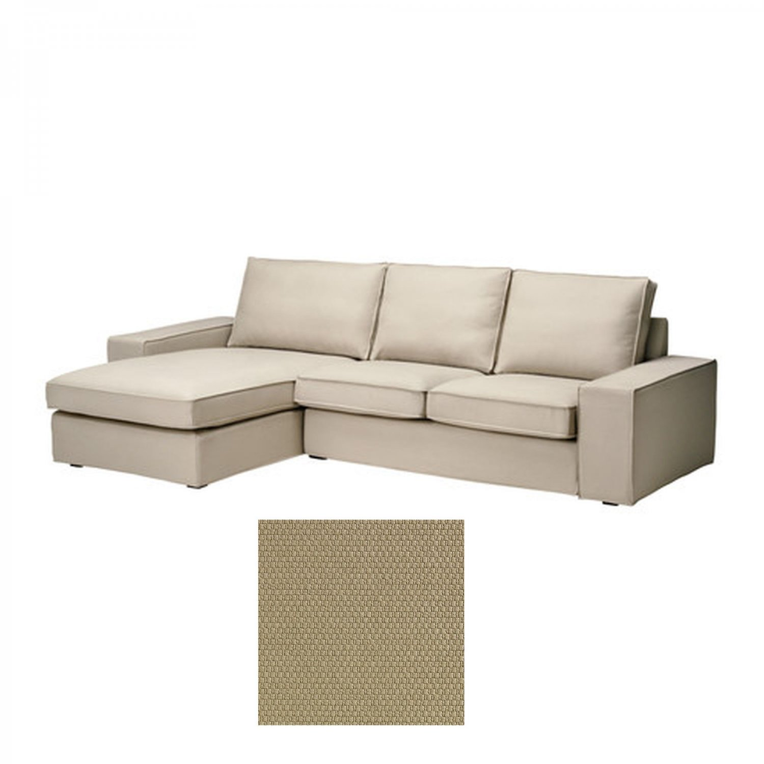 Ikea kivik 2 seat loveseat sofa w chaise lounge slipcover for 2 seater chaise lounge