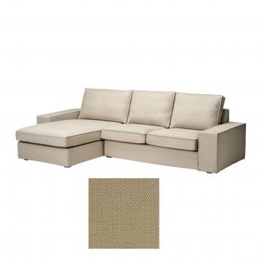 KIVIK 2 Seat Loveseat Sofa w Chaise Lounge SLIPCOVER Cover DANSBO