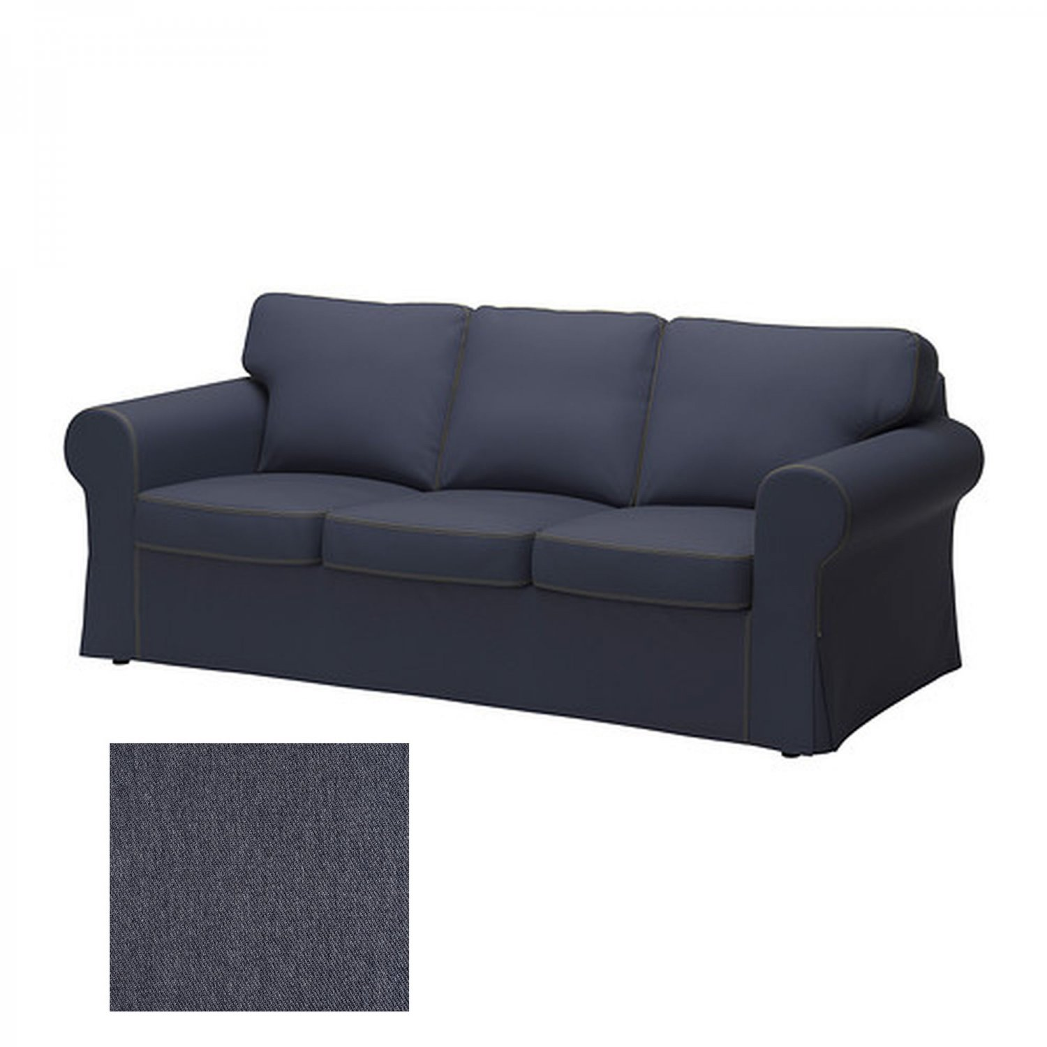 ikea ektorp 3 seat sofa slipcover cover jonsboda blue last one. Black Bedroom Furniture Sets. Home Design Ideas
