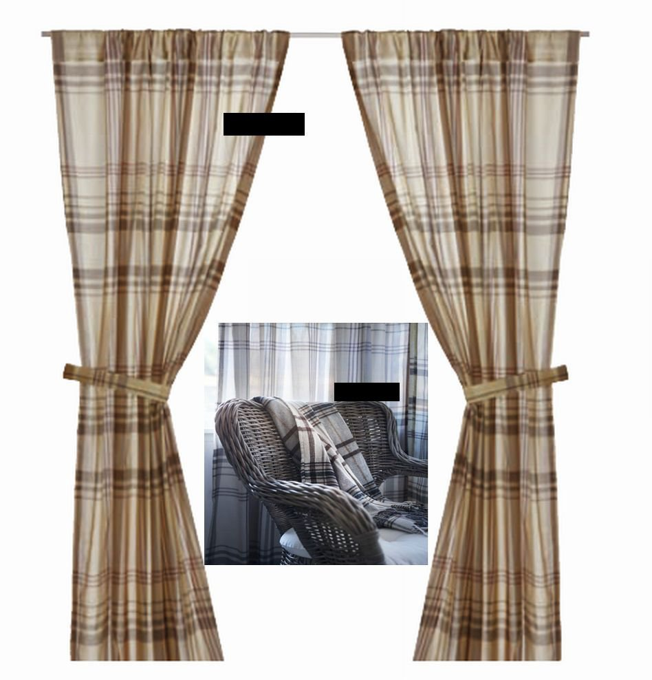 blue gray red windows room and under tartan chair blackout tan living curtains grey check cute
