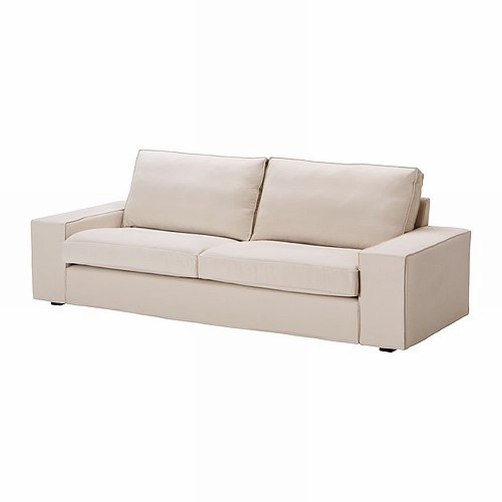 Ikea kivik 3 seat sofa slipcover cover ingebo light beige for Sofa kivik 3 plazas