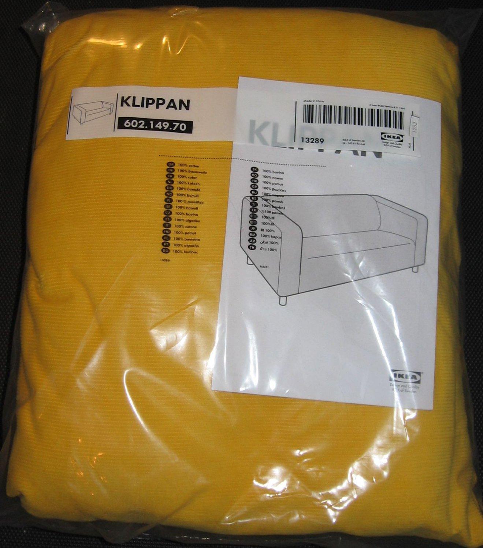 IKEA KLIPPAN Sofa SLIPCOVER Cover LEABY YELLOW Corduroy Cotton