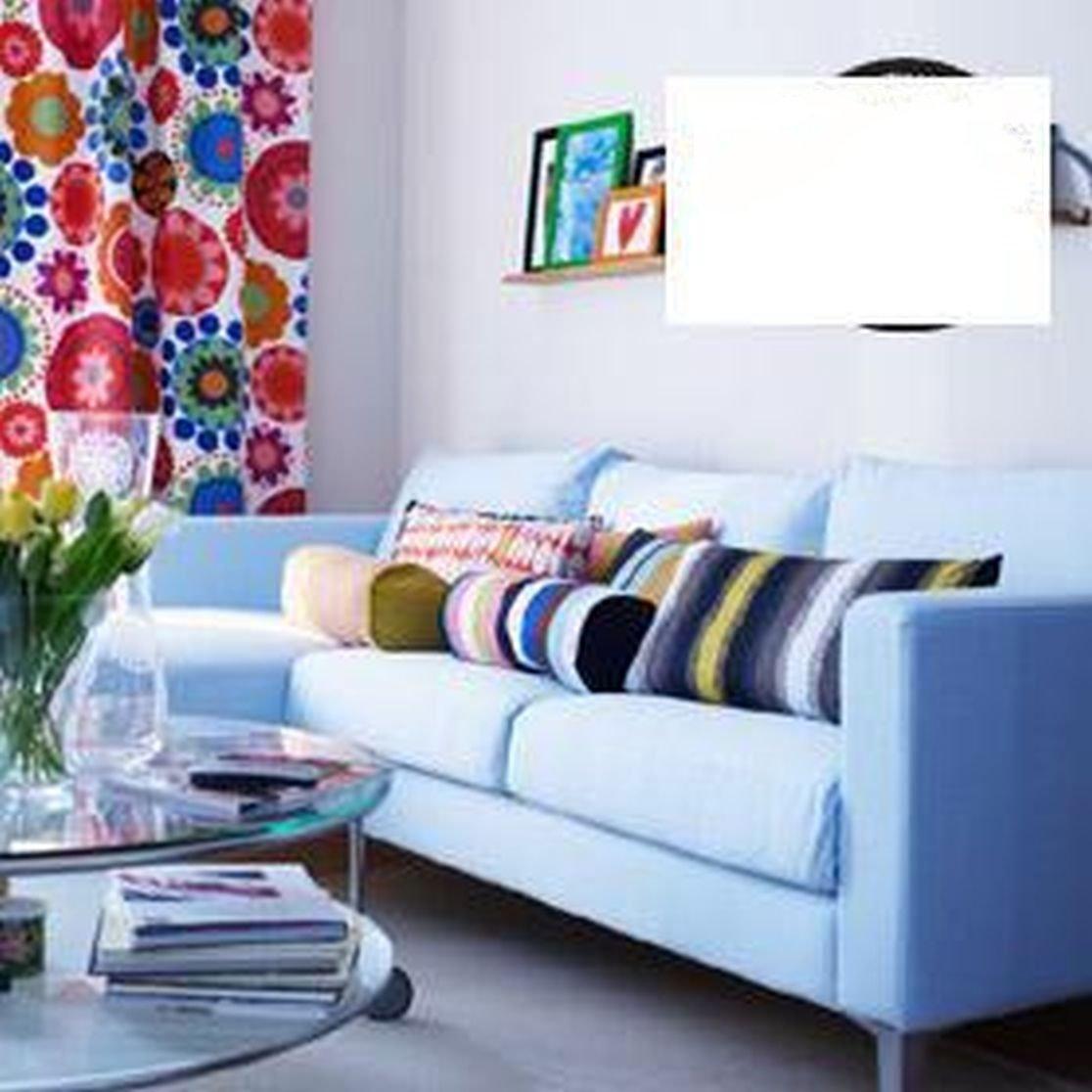 IKEA KARLSTAD Sofa SLIPCOVER Cover SIVIK Light BLUE 3 Seat Mid Century  Modern