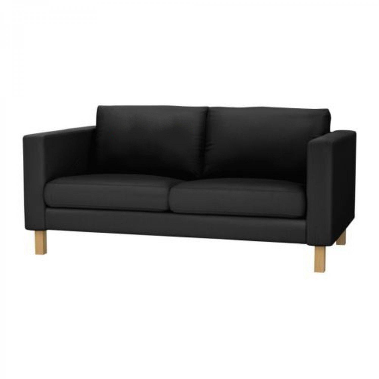 ikea karlstad 2 seat sofa slipcover loveseat cover ullevi dark gray grey. Black Bedroom Furniture Sets. Home Design Ideas