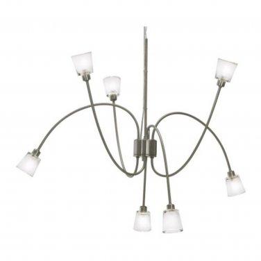 IKEA KRYSSBO Chandelier Light PENDANT LAMP Glass NICKEL Steel ...