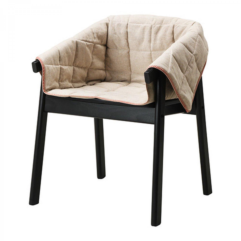 IKEA ESBJORN Chair SLIPCOVER Armchair Cover NATURAL Beige Linen ESBJ�RN