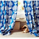 "IKEA KAJSAMIA CURTAINS Drapes 2 Panels BLUE Grommets 98"" Long"