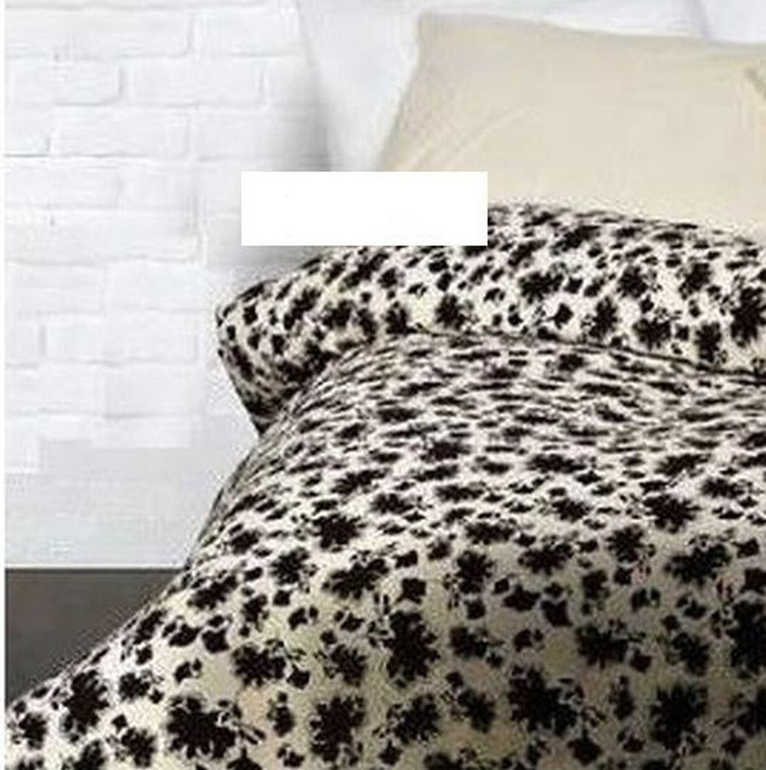 Ikea Ransby Twin Single Duvet Cover Set Brown Beige Floral
