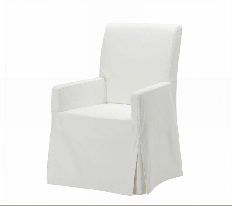 ikea henriksdal chair w arms slipcover cover 21 54cm blekinge white skirted long armrests. Black Bedroom Furniture Sets. Home Design Ideas