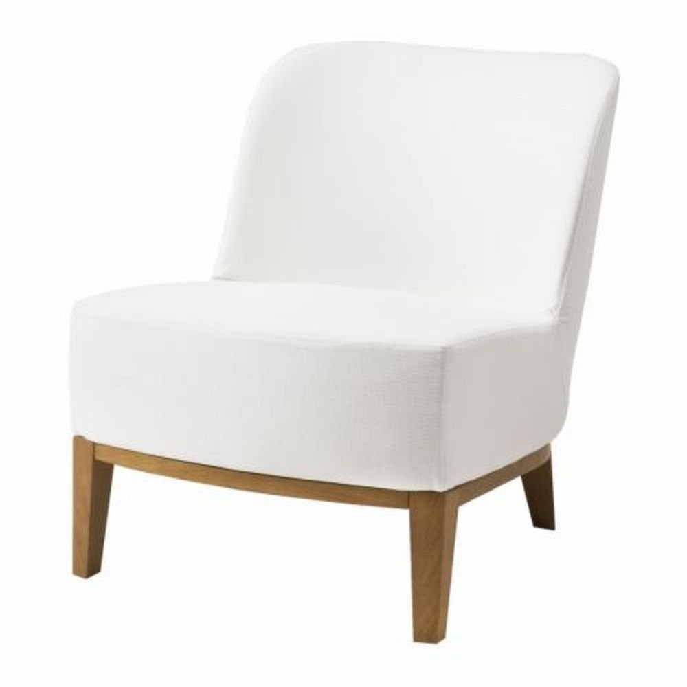 ikea stockholm easy chair slipcover cover rostanga white bezug housse r st nga. Black Bedroom Furniture Sets. Home Design Ideas