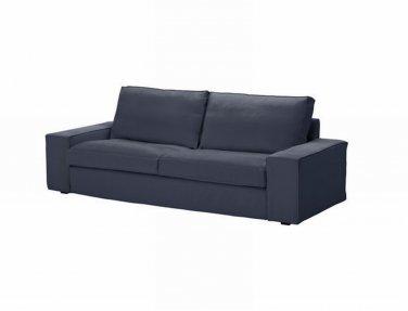 ikea kivik 3 seat sofa slipcover cover ingebo blue cotton bezug housse. Black Bedroom Furniture Sets. Home Design Ideas