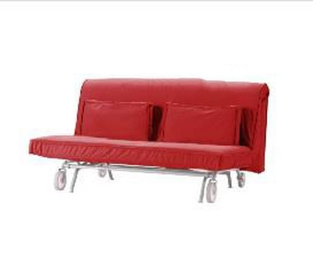 Ikea ps sofa bed sofabed slipcover cover roma red modern Loveseat futon cover
