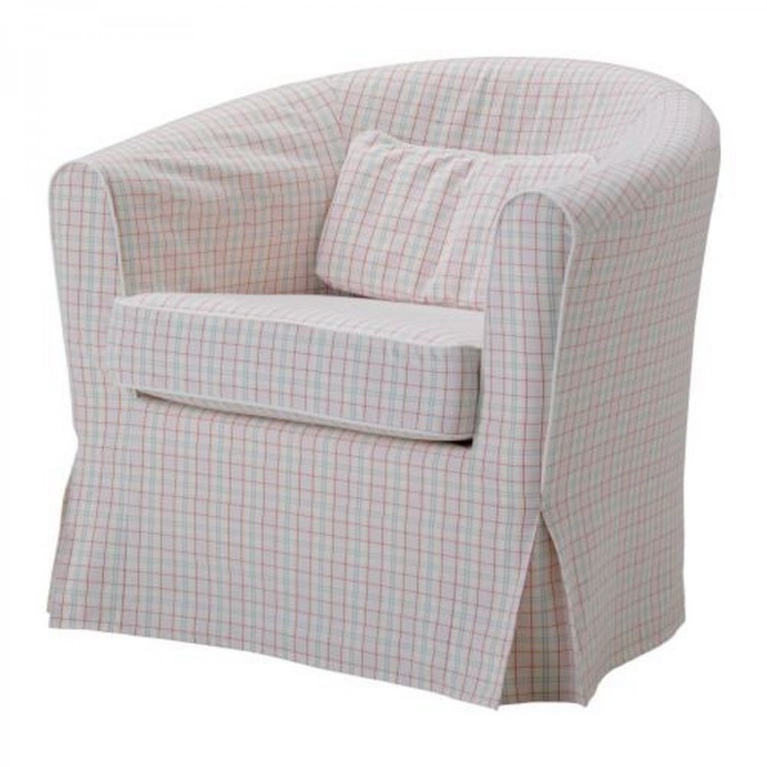 ikea ektorp tullsta armchair slipcover chair cover ruda multi pink green plaid checked. Black Bedroom Furniture Sets. Home Design Ideas