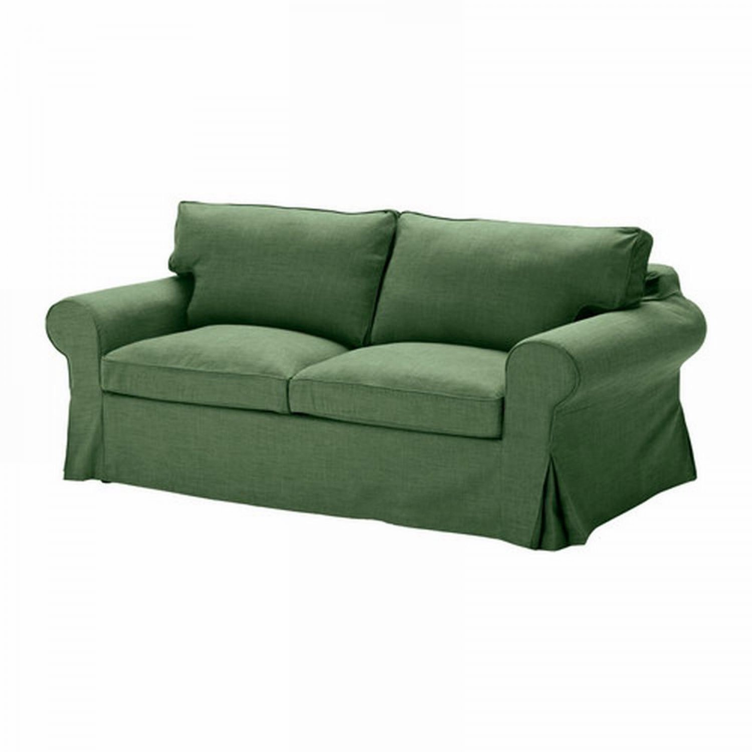 ikea ektorp sofa bed slipcover sofabed cover svanby green. Black Bedroom Furniture Sets. Home Design Ideas