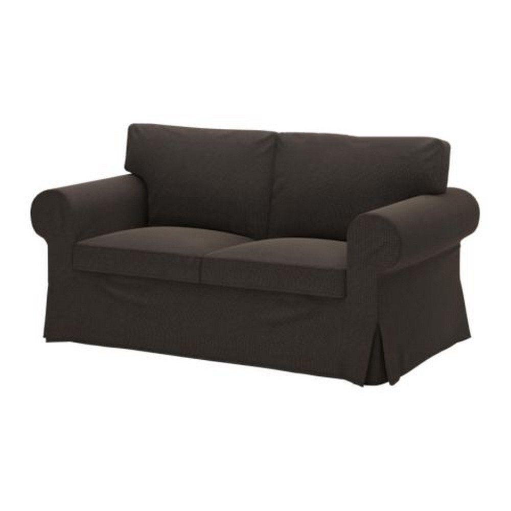 ikea ektorp 2 seat sofa slipcover korndal dark brown loveseat cover. Black Bedroom Furniture Sets. Home Design Ideas
