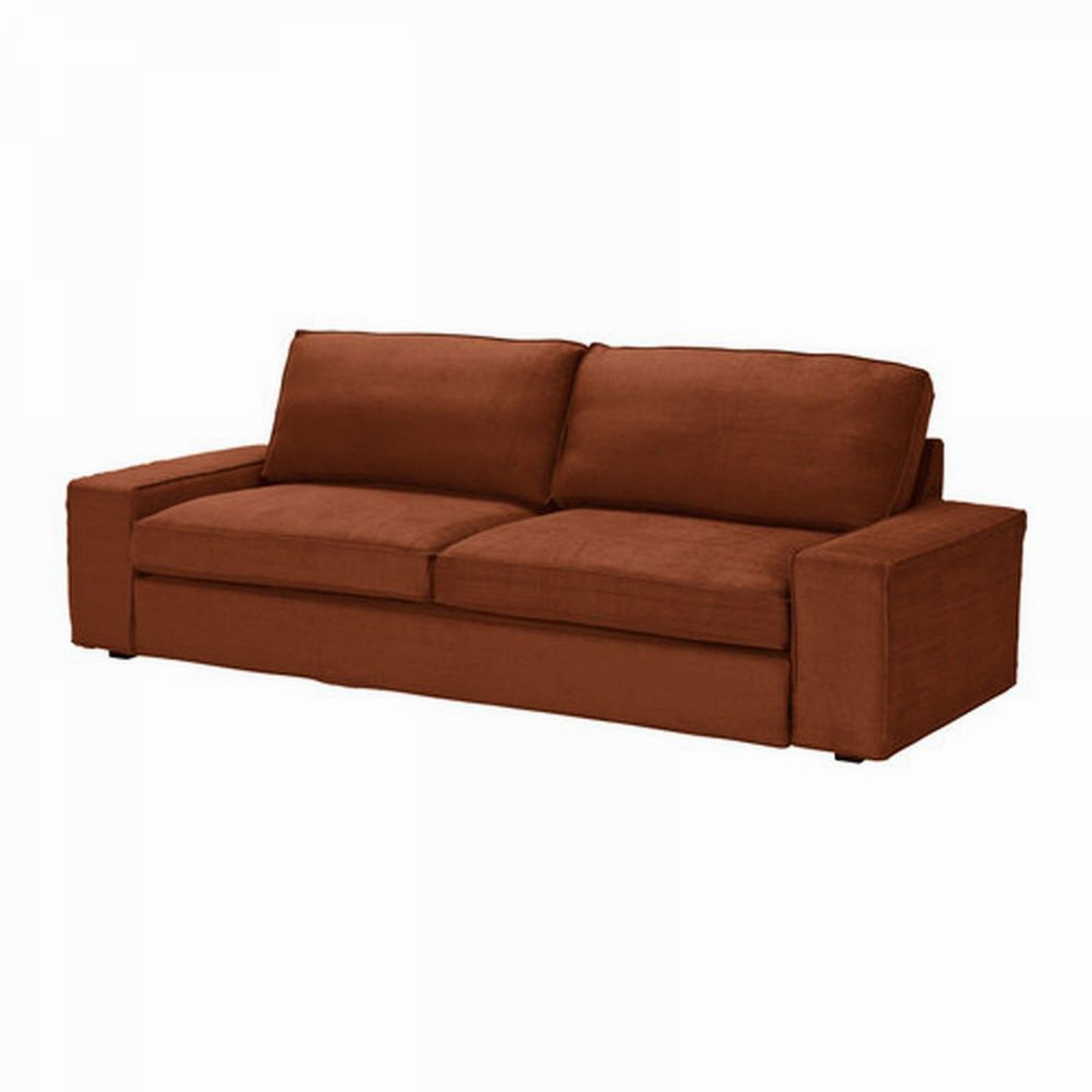 Ikea kivik sofa bed slipcover cover tullinge rust brown for Housse sofa ikea