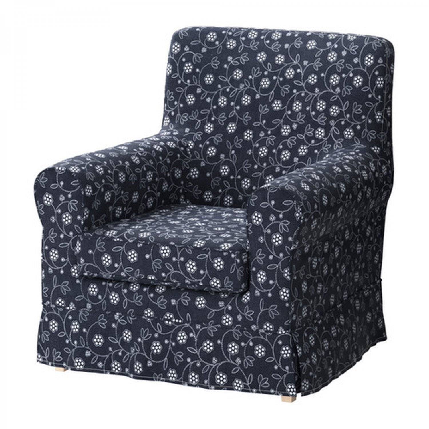 ikea ektorp jennylund armchair slipcover cover laxa blue. Black Bedroom Furniture Sets. Home Design Ideas