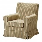 IKEA Ektorp JENNYLUND Armchair SLIPCOVER Chair Cover LINGHEM Light BROWN STRIPE