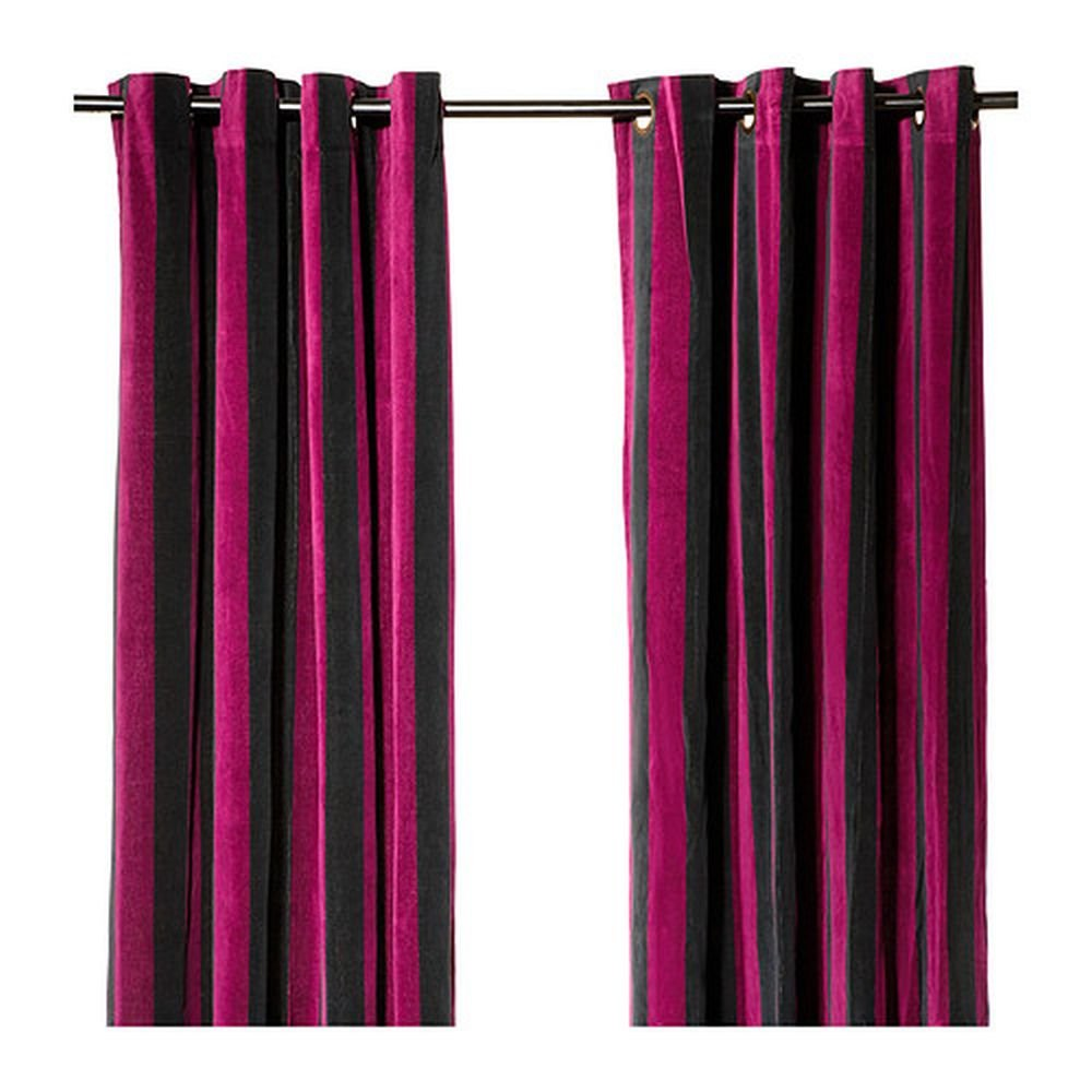 Ikea n tvide natvide curtains drapes 2 panels lilac purple for Ikea curtain rods uk