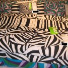 IKEA  MYRLILJA QUEEN Full Duvet COVER Set RETRO Swirl BLACK WHITE Psychedelic