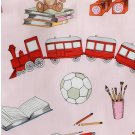 IKEA LEKRUM TWIN Single Duvet COVER Pillowcase Set Teddy Bear Books Soccer Trains Toys