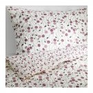 IKEA MAJVIVA KING Duvet COVER Pillowcases Set WHITE LILAC Purple Floral Rose