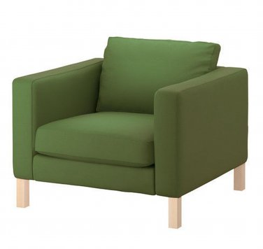 IKEA KARLSTAD Armchair SLIPCOVER Chair Cover SIVIK DARK GREEN