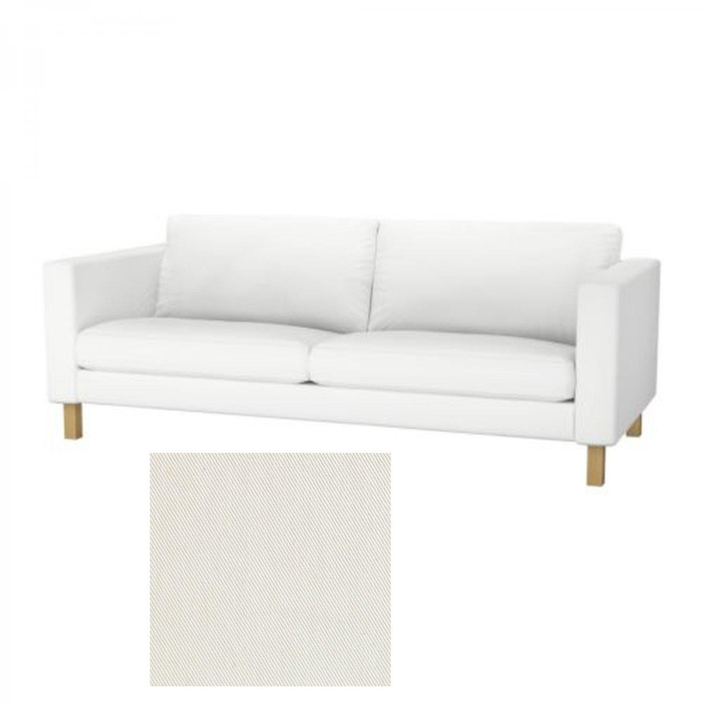 IKEA KARLSTAD 3 Seat Sofa SLIPCOVER Cover BLEKINGE WHITE