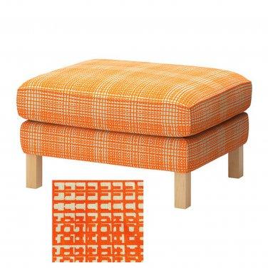 Ikea KARLSTAD Footstool Ottoman SLIPCOVER Cover HUSIE ORANGE