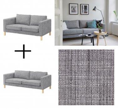 Ikea Karlstad Sofa And Loveseat Slipcover Cover Isunda Gray Grey Linen Blend 2 And 3 Seat