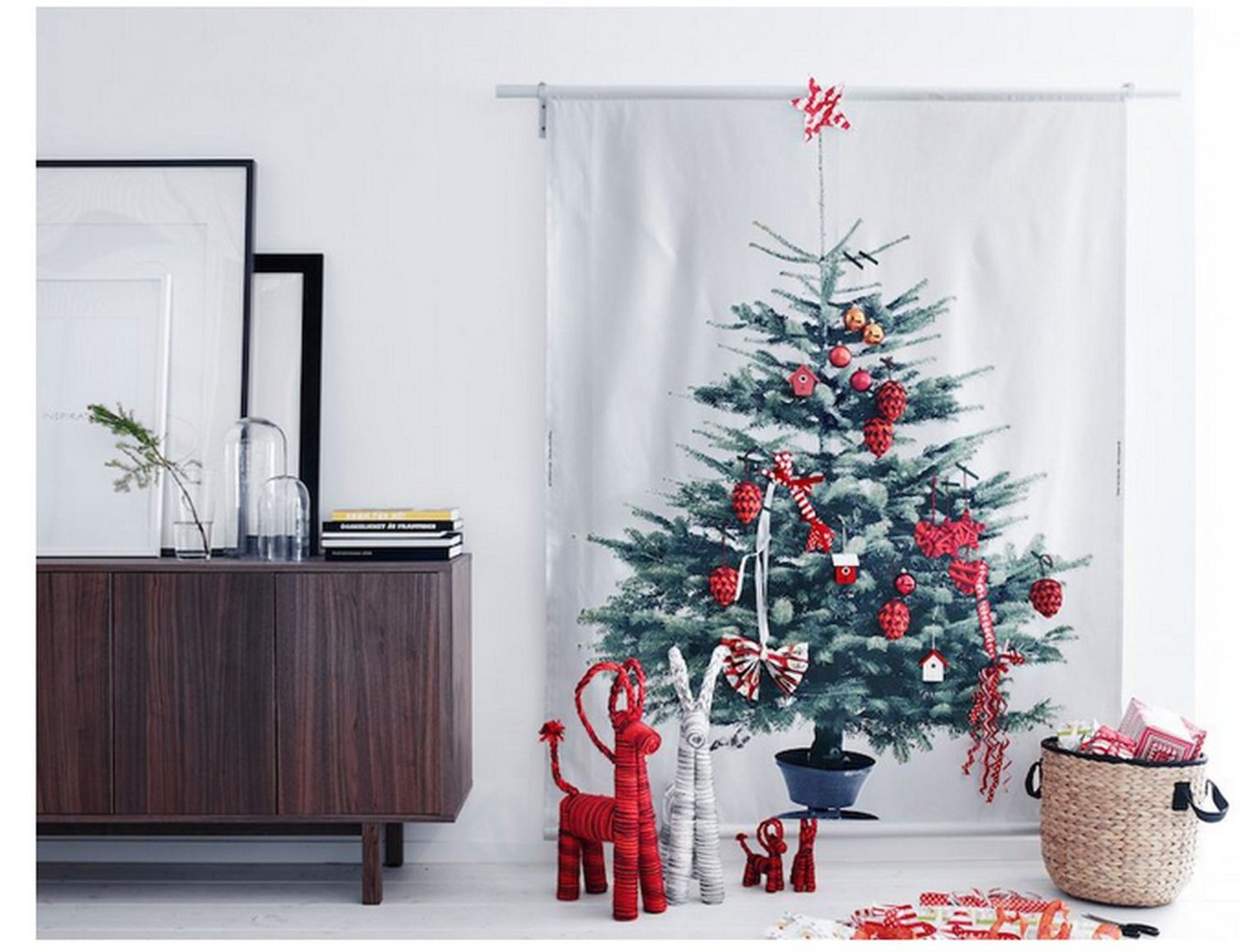 IKEA Christmas Tree FABRIC Material XMAS Wall Hanging VINTER 2014 ...