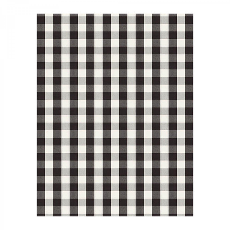 Ikea Berta Ruta Fabric Material Buffalo Check Black White