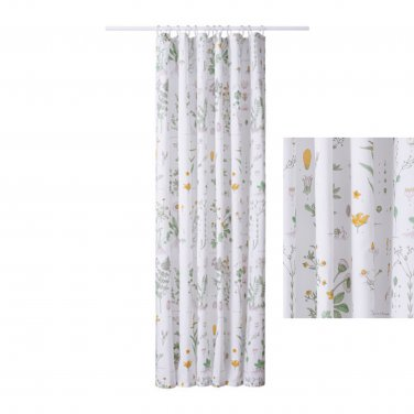 IKEA STRANDKRYPA Fabric SHOWER Curtain BOTANICAL Garden Print Floral ...