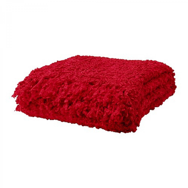 Ikea Ofelia Red Throw Blanket Photo Prop Textured