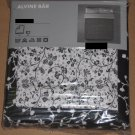 IKEA ALVINE BAR Duvet COVER Pillowcases Set QUEEN Full Double BLACK White Floral BÄR