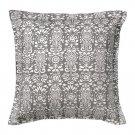 IKEA AKERKULLA Pillow COVER Sham Cushion Cvr GRAY Grey White Floral ÅKERKULLA