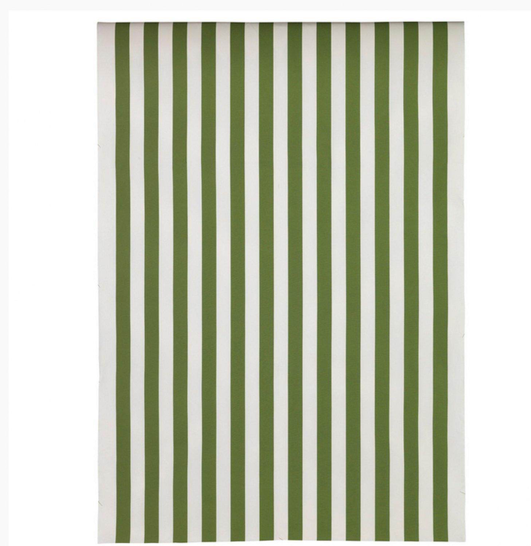 ikea sofia fabric material 1 5yd green white broad stripe cabana print. Black Bedroom Furniture Sets. Home Design Ideas