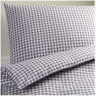 IKEA VINTER 2014 QUEEN Full Duvet COVER Pillowcases Set GRAY CHECKED Gingham Double Full Xmas Grey