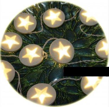 IKEA KALLT  White Felt Star Light Chain XMAS Fabric GL�NSA FILT LED Glansa Strala