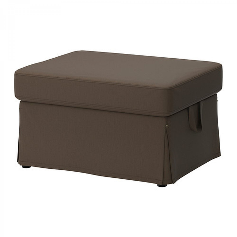 ikea ektorp footstool cover ottoman slipcover jonsboda brown
