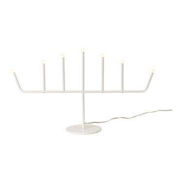 IKEA STRALA Christmas CANDELABRA 7 Arm WHITE Metal LED Glansa Strala XMAS Modern Lamp Light KROON