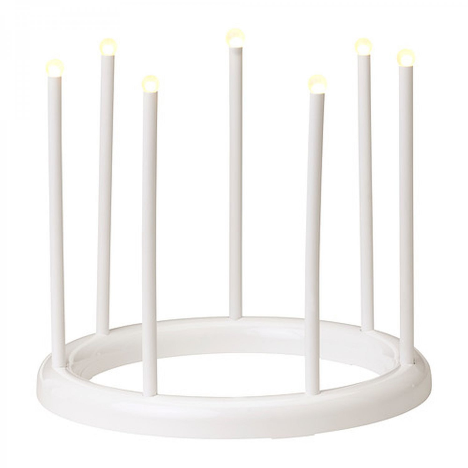 IKEA STRALA Round Christmas CANDELABRA Crown WHITE 7 LED Glansa Strala XMAS Modern Light Lamp