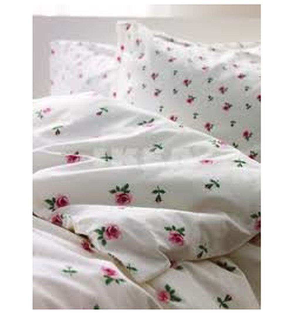 Ikea Emelina Knopp Queen Full Duvet Cover Set Pink