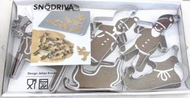SNODRIVA Christmas Cookie Cutter Pastry IKEA 6 stainless steel Decoration SN�DRIVA