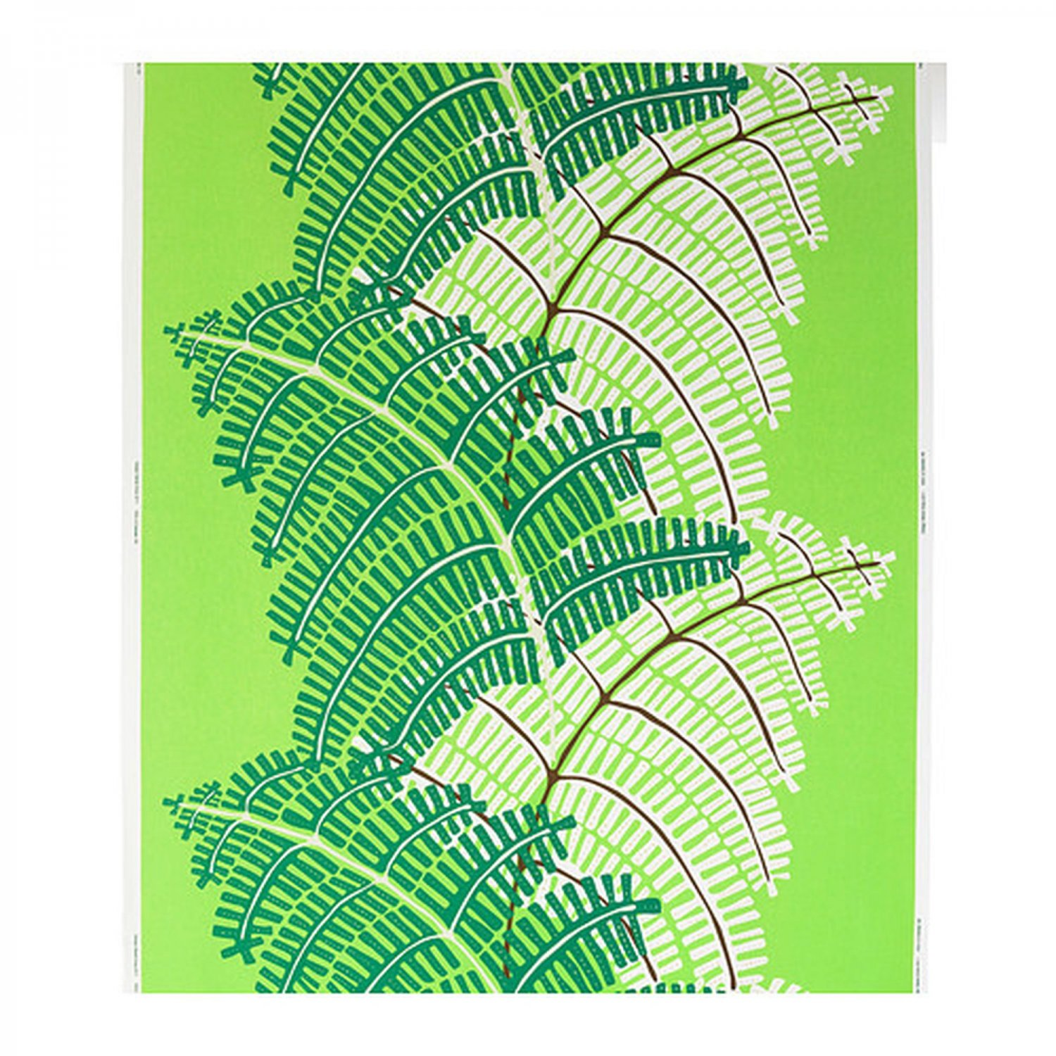 ikea stockholm fabric material 1 yd green white fern jungle print. Black Bedroom Furniture Sets. Home Design Ideas
