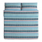 IKEA Mossflox King Duvet COVER Pillowcase Set Blue Multicolour Modern