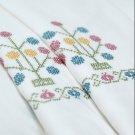 IKEA ALVINE SPIRA WHITE Embroidered DUVET COVER QUEEN