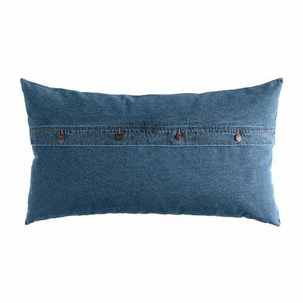 Ikea Ektorp Nabben Down Filled Cushion Jeans Denim Lumbar