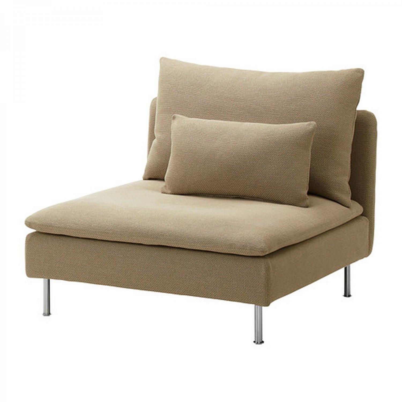 IKEA SODERHAMN One-Seat Section SLIPCOVER 1 Chair Cover REPLOSA BEIGE Replösa